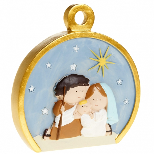 Ornement Nativité stylisée ronde s2