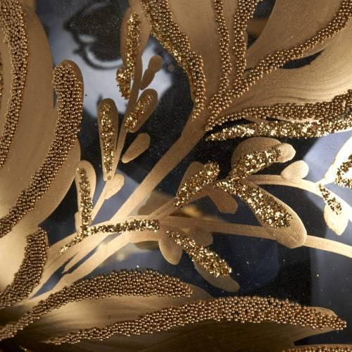 Ornement sapin, boule verre dorée 10 cm s3