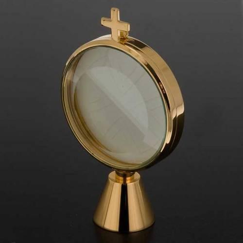Ostensoir chapelle laiton simple  8.5 cm de diamètre s5