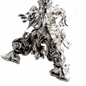 Ostensorio barocco ostia magna angeli ottone argentato s5
