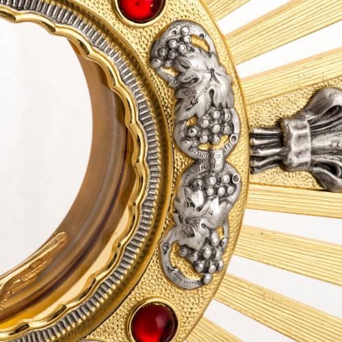 Ostensorio bronzo fuso Evangelisti gigli h 55 cm s4