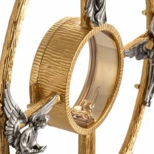Ostensorio en bronce dorado con ángeles 60cm alto s11