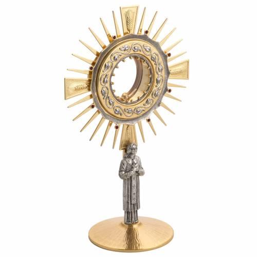 Ostensorio latón con santo en bronce s5