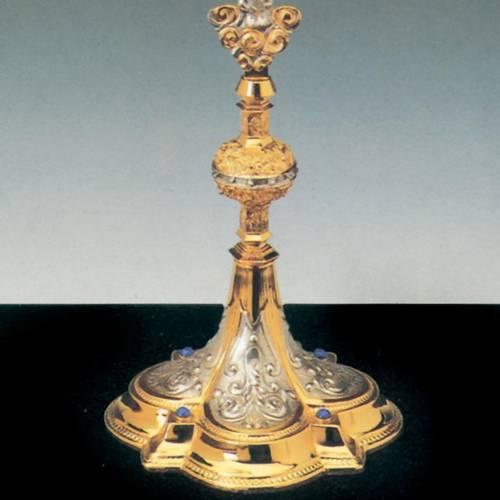 Ostensorio ottone argentato dorato angelo 3