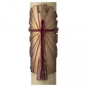 Kerzen: Osterkerze Auferstandener Christus gold