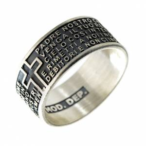 Prayer rings: Our Father prayer ring in 925 silver
