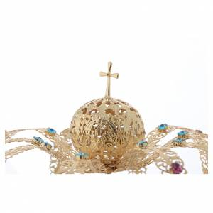 Our Lady crown golden brass - colored strass s3