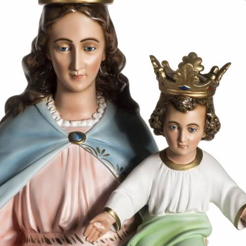 Our Lady Help of Christians statue in resin, 130 cm s4