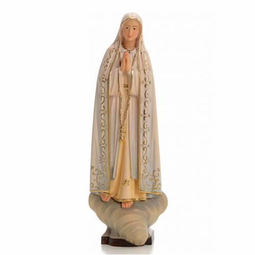 Our Lady of Fatima in painted Valgardena wood s1