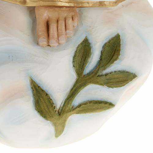 Our Lady of Fatima statue, 60cm in painted reconstituted marble s7