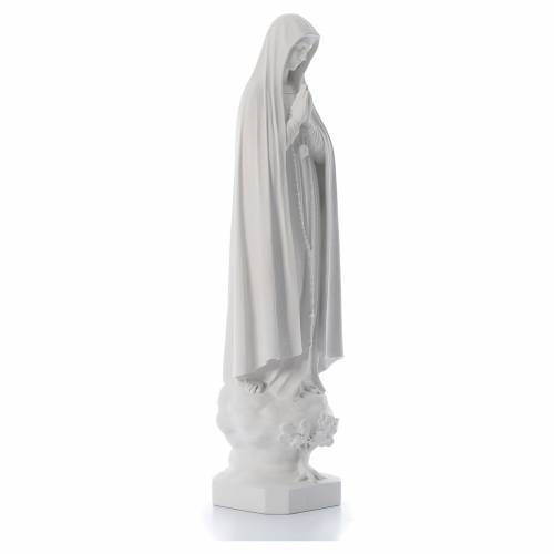 Our Lady of Fatima with tree in reconstituted marble, 100 cm s3