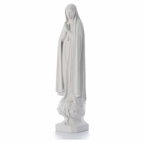 Our Lady of Fatima with tree in reconstituted marble, 100 cm s2