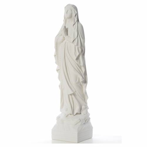 Our Lady of Lourdes 70 cm statue in reconstituted Carrara marble s2