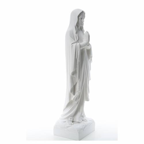 Our Lady of Lourdes, reconstituted Carrara marble statue s4
