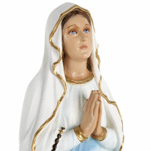 Our Lady of Lourdes statue, 70cm in painted reconstituted marble s2