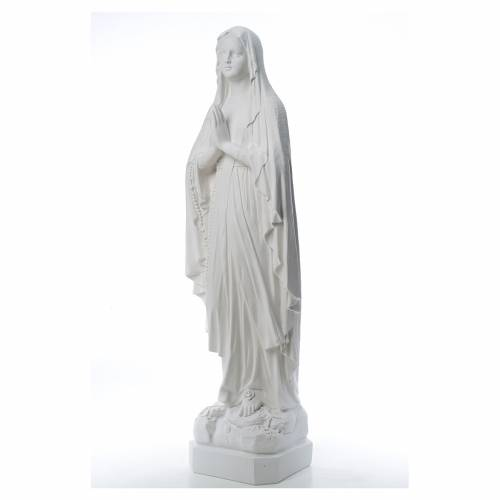 Our Lady of Lourdes statue made of reconstituted Carrara marble s2
