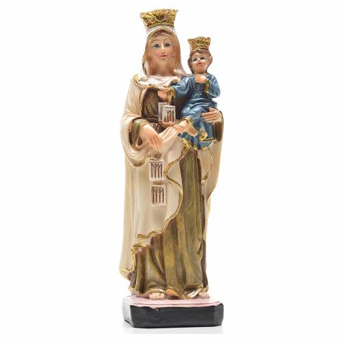Our Lady of Mount Carmel 12cm with English prayer s1