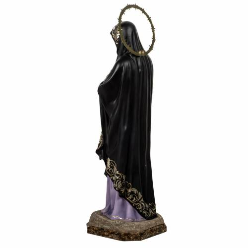 Our Lady of Sorrows, Soledad, 80cm in wood paste, elegant decora s10