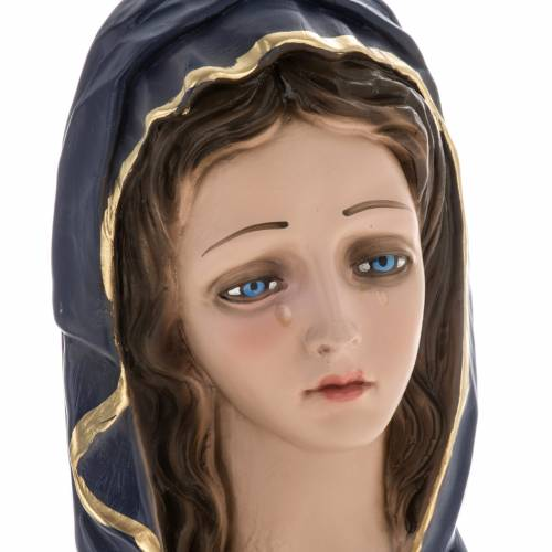 Our Lady of Sorrows statue in plaster, 30 cm s4