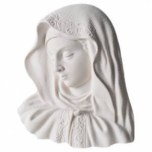 Funeral products: Our Lady of the finger bas-relief in reconstituted marble, 16 cm