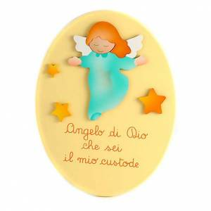 Oval ángel de Dios amarillo s1