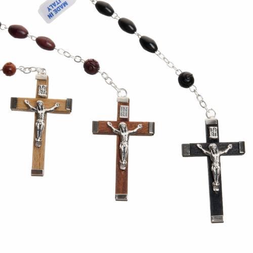 Oval bead coconut rosary s2