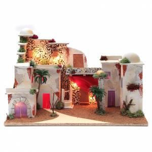 Casas, ambientaciones y tiendas: Paisaje árabe para belén con luces 30x50x25 cm