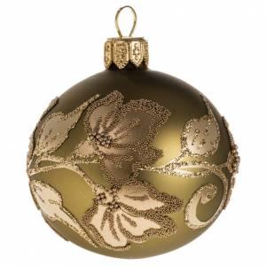 Palla albero Natale vetro trasparente oro 6 cm s1