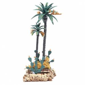 Palm tree and cactus for nativity scene in PVC, 20cm s1