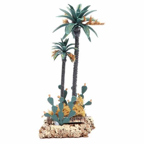 Palmier et cactus 20 cm pvc s1