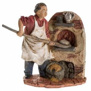 Panadero 13 cm. resina figura belén s1