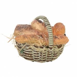 Panier avec pain en cire crèche 20-24 cm s1