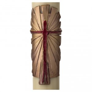 Paschal Candle, Risen Jesus with golden background s2