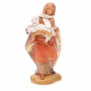 Figuras del Belén: Pastor con oveja en brazo 12 cm Fontanini