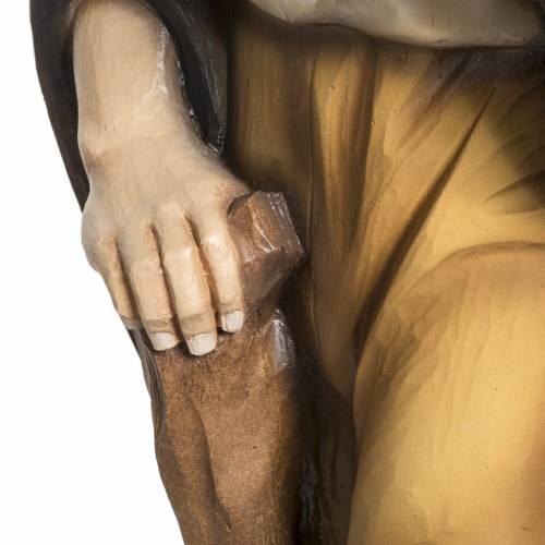 Pastor con ovejita pesebre 60 cm en fibra de vidrio s6