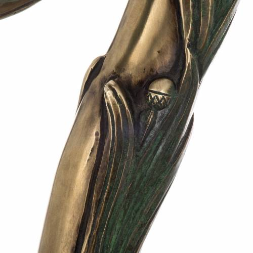 Pastorale in argento 966/1000 e metallo mod. bronzato s4