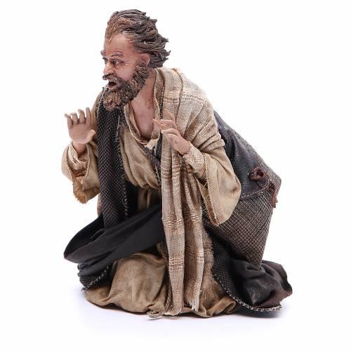 Pastore adorante 30 cm Presepe Angela Tripi s2