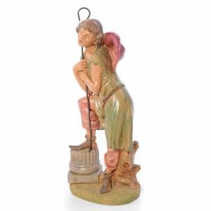 Statue per presepi: Pastore con bastone 30 cm Fontanini