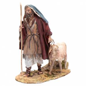 Pastore con due pecore 13 cm presepe Angela Tripi s1