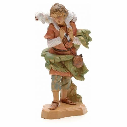 Pastore con pecora sulle spalle 12 cm Fontanini s1