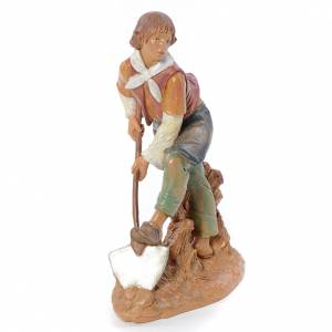 Statue per presepi: Pastore con vanga 30 cm Fontanini