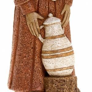 Presepe Bethléem: Pastorella con anfora veste rossa Presepe Contadino