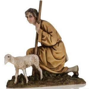Pastorello con agnello 18 cm presepe Landi s2