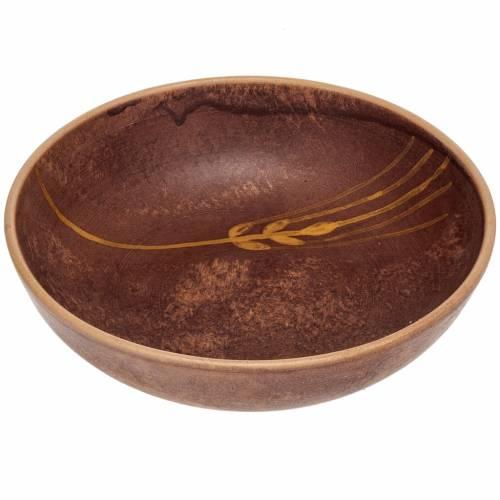 Patena ceramica diam 16 cm cuoio s1