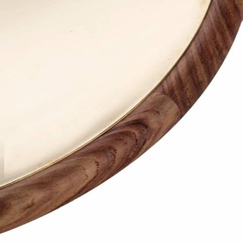 Patena de metal y madera Mod. Essentia s2