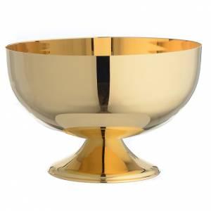 Calici Pissidi Patene metallo: Patena offertoriale in ottone dorato