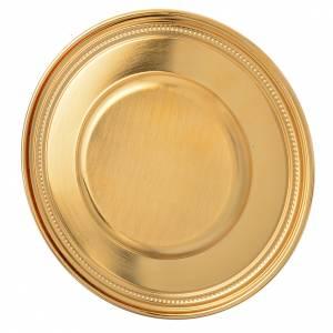Patena ottone dorato 19 cm s2