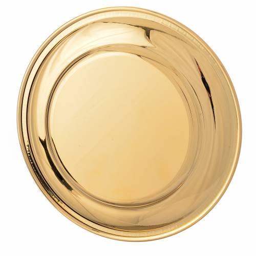 Patena ottone dorato greca sul bordo cm 19 s2