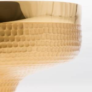 Patena ottone dorato martellato 16 cm s3
