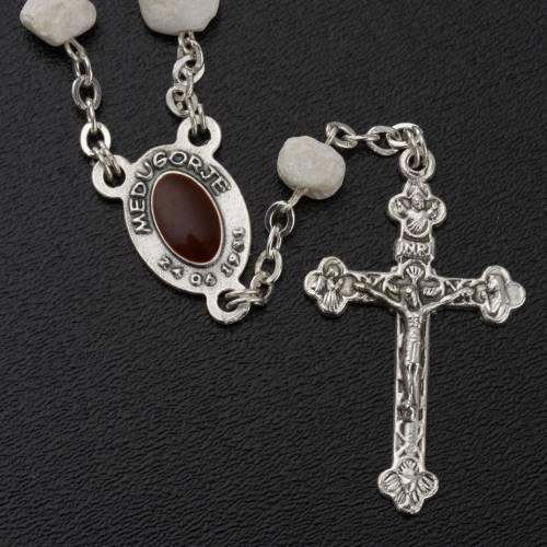 Peace chaplet, Medjugorje, white stone s3